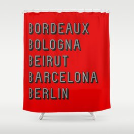 Join the Journey – Berlin Shower Curtain