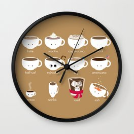 Know Your Coffees Wall Clock