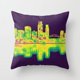 Corpus Christi Texas Skyline Throw Pillow