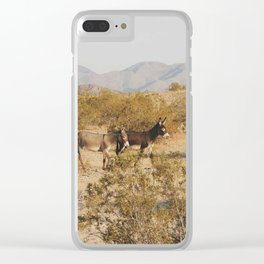 Desert Deer Clear iPhone Case