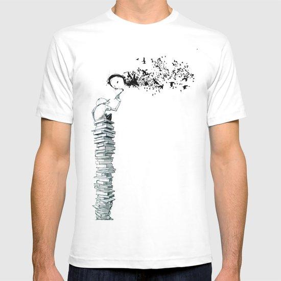 "Glue Network Print Series ""Education & Arts"" T-shirt"