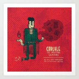 Carlyle, The Christmas Vampire Art Print