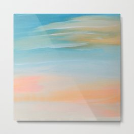 Fresh Colors Painterly Abstract Metal Print