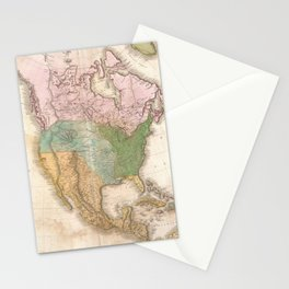 Vintage Map of North America (1818) Stationery Cards