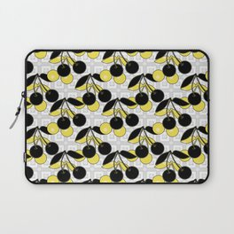 Black and yellow pattern . Cherry . Laptop Sleeve