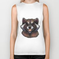 rocket raccoon Biker Tanks featuring Rocket by Fhari