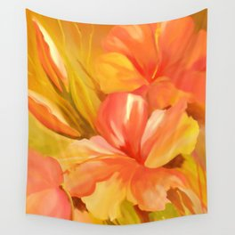 hibiscus flower-Oil painting Wall Tapestry