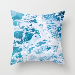 Perfect Ocean Sea Waves Throw Pillow