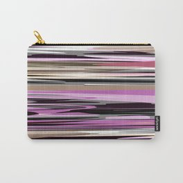 Abstract stripes in lilac tones Carry-All Pouch