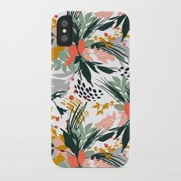 Botanical brush strokes I iPhone Case