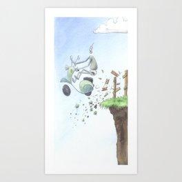 Lost Robot Art Print