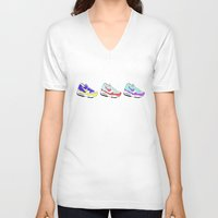 nike V-neck T-shirts featuring Nike Air by caseysplace