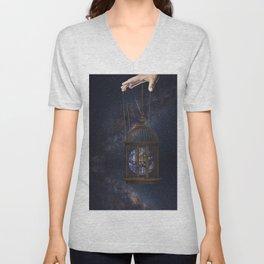 Surrealism Fantasy Earth Unisex V-Neck