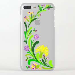 Abstract floral decoration Clear iPhone Case