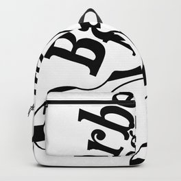 Barber Magic - black and white Backpack