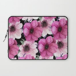 Serenity Garden: Pink Floral Pattern Laptop Sleeve