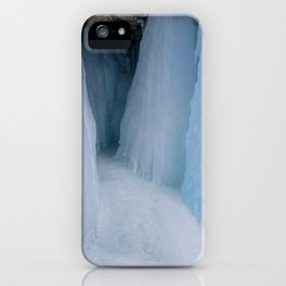 The Grotto Ice cave in Maligne Canyon iPhone Case