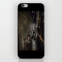 Wind 360 20 kts clear to land iPhone Skin