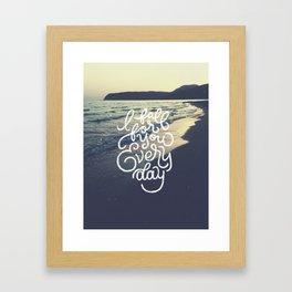 I fall for you everyday Framed Art Print