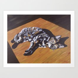 Contentment in a Patch of Sunlight (2015) Art Print