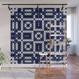 BALANCE classic blue and white intricate design Wall Mural