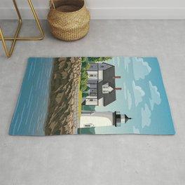 Prospect Harbor Lighthouse Rug