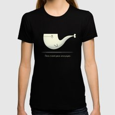 Pipe Whale Womens Fitted Tee Black MEDIUM