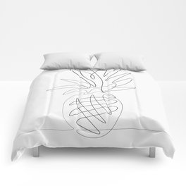 One Line Pineapple Comforters