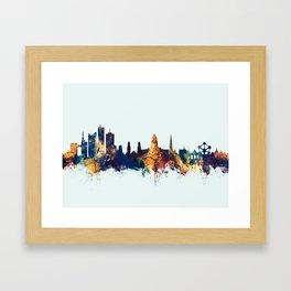 Brussels Belgium Skyline Framed Art Print