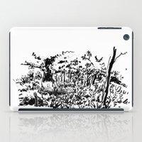 sketch iPad Cases featuring sketch by geoffroy dussart