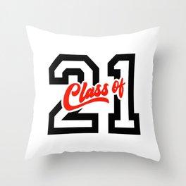 Graduating Class of 2021 - 21 Throw Pillow