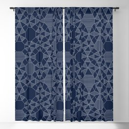Abstract Minimalism on Navy Blackout Curtain