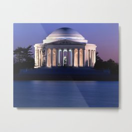 Thomas Jefferson Memorial at Dusk  Metal Print