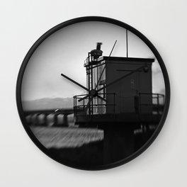 Severn Crossing Lensbaby 04 - Severn Beach Wall Clock