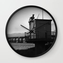 Severn Crossing Lensbaby 04 - Severn Beach Wall Clock