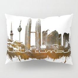 Kuala Lumpur skyline city brown Pillow Sham