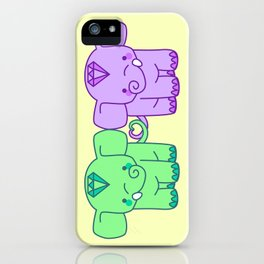 elephant love iPhone Case