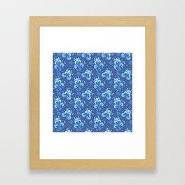 fleur de otachi - dark Framed Art Print