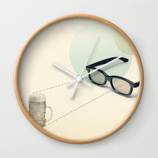 beer goggles Wall Clock