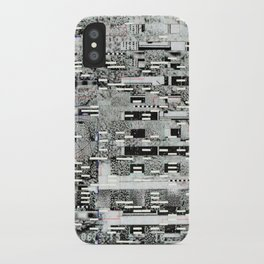 Highly Resolved Ghost (P/D3 Glitch Collage Studies) iPhone Case