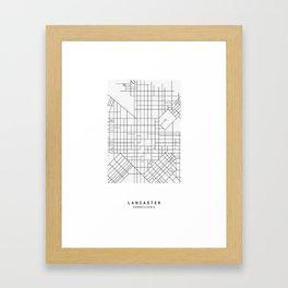 Lancaster, PA Simple Map Framed Art Print