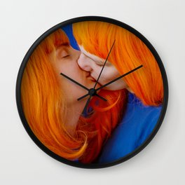 kiss (on being single) Wall Clock