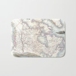 Vintage Map of Canada (1849) Bath Mat