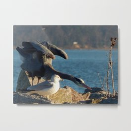 Heron stretch Metal Print
