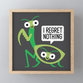 When a Mantis Loves a Woman Framed Mini Art Print