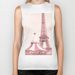 Paris Nursery, Violet, Eiffel Tower Biker Tank