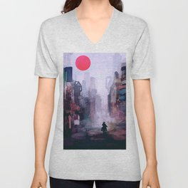 Strange Mornings Unisex V-Neck