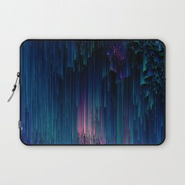 Glitchy Night - Abstract Pixel Art Laptop Sleeve