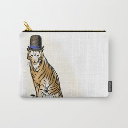 Tiger with Dashing Hat:  Having Fun with Vintage Graphics Carry-All Pouch