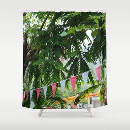 Dreamy Mexican Street Shower Curtain